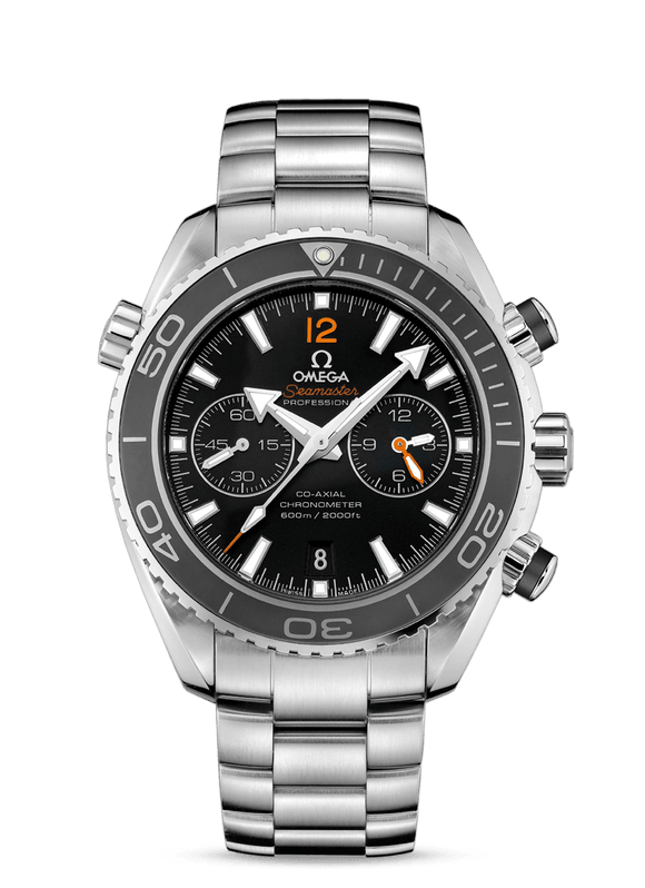 Omega Seamaster Planet Ocean 600M Steel Chronograph Black - The Luxury Well