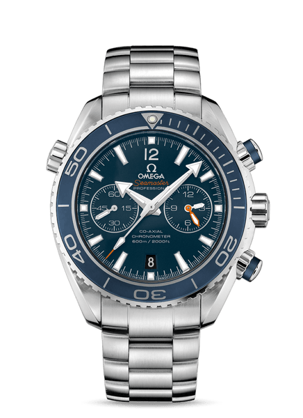 Seamaster Planet Ocean 600M Titanium Chronograph Blue - The Luxury Well