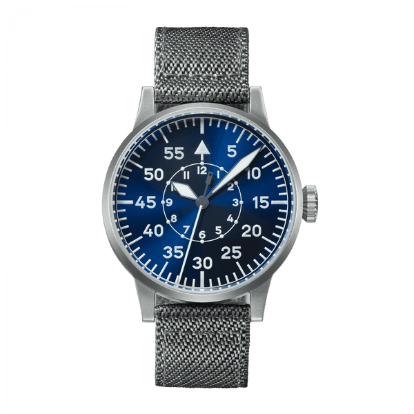 Laco Pilot Watch Original PADERBORN BLAUE STUNDE Blue Dial 42mm - The Luxury Well