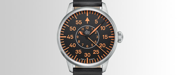 Laco Pilot Watch Basic PALERMO Black Superluminova Dial 42mm - The Luxury Well