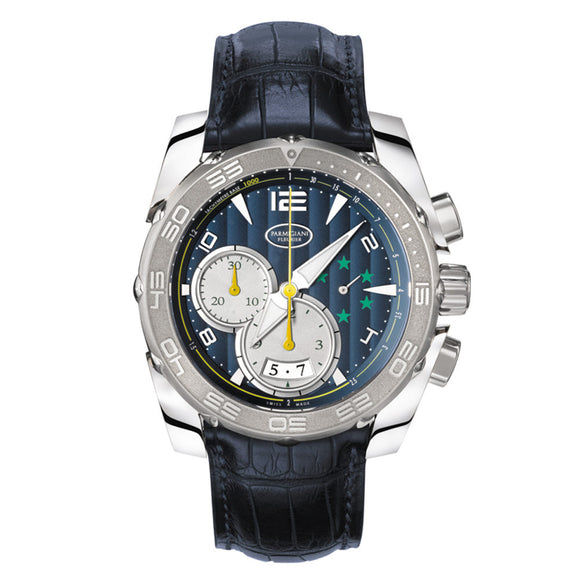 Parmigiani Pershing 005 CBF Chronograph Automatic 45mm blue dial - The Luxury Well