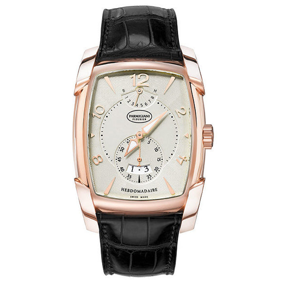 Parmigiani Fleurier Kalpa XL Hebdomadaire Rose Gold Silver Dial - The Luxury Well