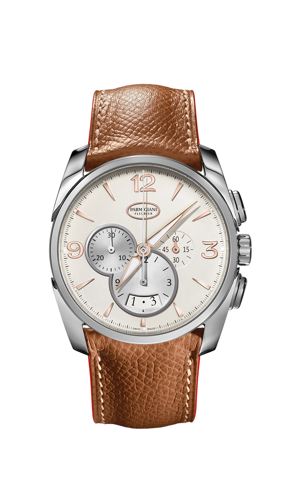 Parmigiani Fleurier Tonda Metrographe 40mm grained white dial - The Luxury Well