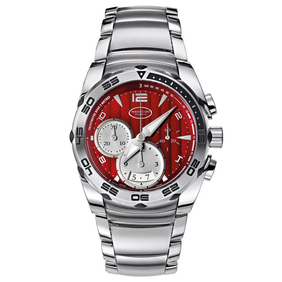Parmigiani Fleurier Pershing 002 Chronograph 42mm red dial - The Luxury Well