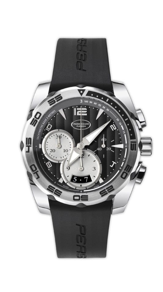 Parmigiani Fleurier Pershing 002 Chronograph 42mm black dial - The Luxury Well