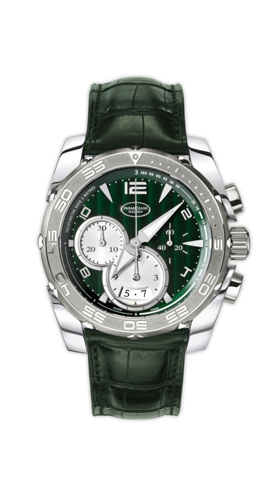 Parmigiani Fleurier Pershing 005 Chronograph Automatic 45mm green dial - The Luxury Well