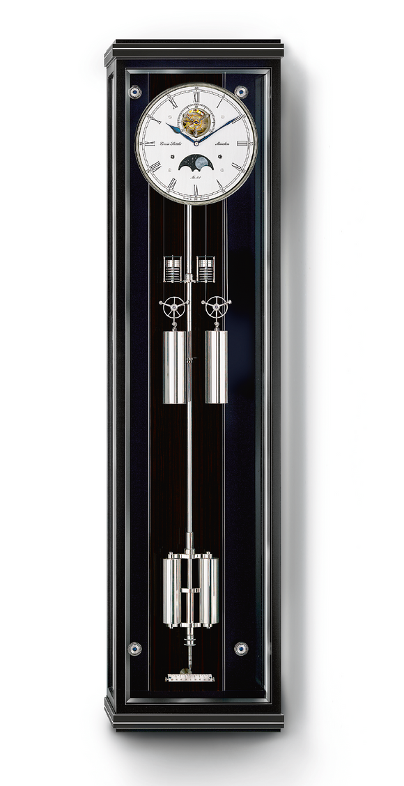 Erwin Sattler Secunda Sonata Modern Precision Pendulum Clock with Moon phase and Chime - The Luxury Well