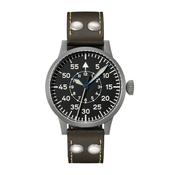 Laco Pilot Watch Original SPEYER Black Dial 39mm - The Luxury Well