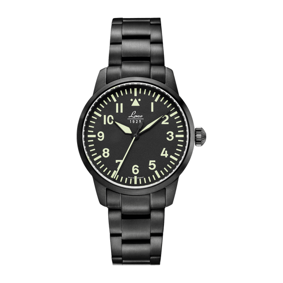 Laco Pilot Watch Basic STOCKHOLM Black Dial 36mm - The Luxury Well