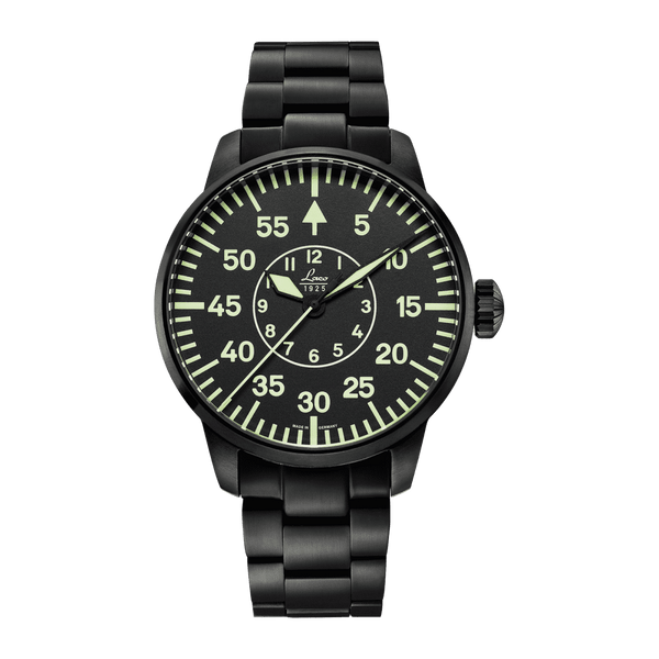 Laco Pilot Watch Basic SYDNEY Black Dial 42mm - The Luxury Well