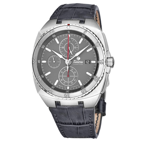Tutima Glashuette Saxon One LS Opalin anthracite 43mm - The Luxury Well