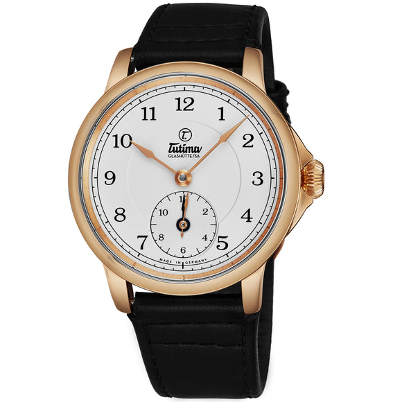 Tutima Glashuette Patria Dual Time White 43mm - The Luxury Well