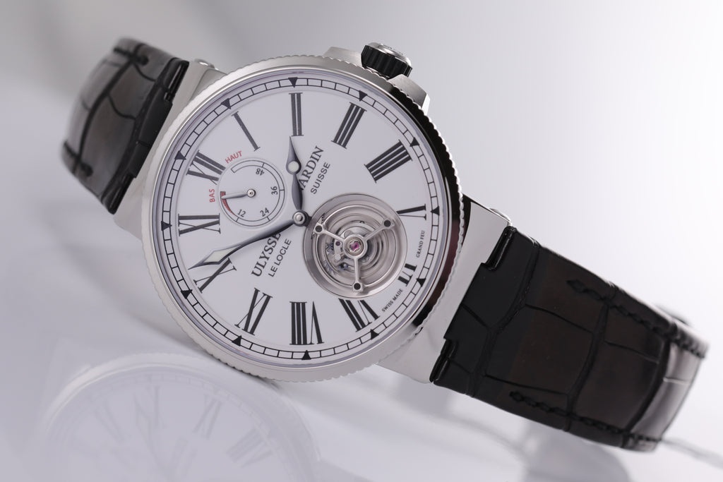 Ulysse Nardin Marine Tourbillon 43mm white dial