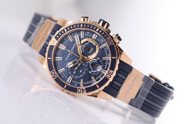 Ulysse Nardin Diver Chronograph 44mm blue dial Ref. 1502-151-3/93 - The Luxury Well