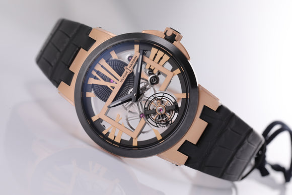 Ulysse Nardin Executive Skeleton Tourbillon 45mm skeleton dial - The Luxury Well