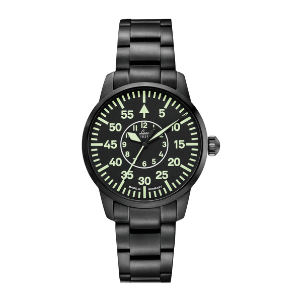 Laco Pilot Watch Basic VISBY Black Dial 36mm - The Luxury Well