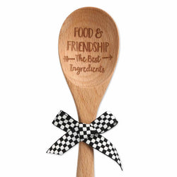 Food and Friendship Wood Spoon