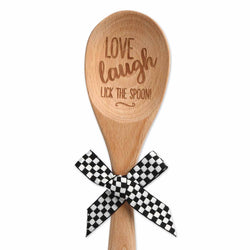 Love Laugh Lick Wood Spoon