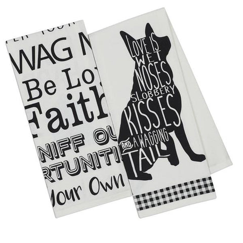 Dogs Printed Dishtowels