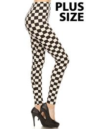 Checkered Leggings Plus Size