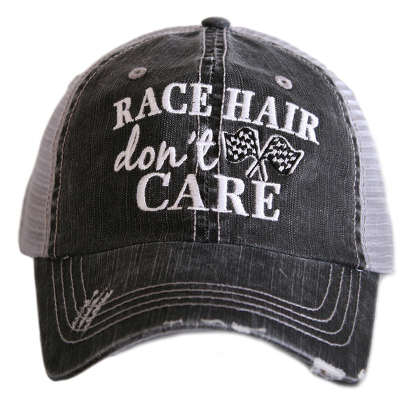 Race Hair Don't Care Trucker Hat