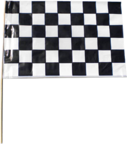 Plastic Checkered Flags