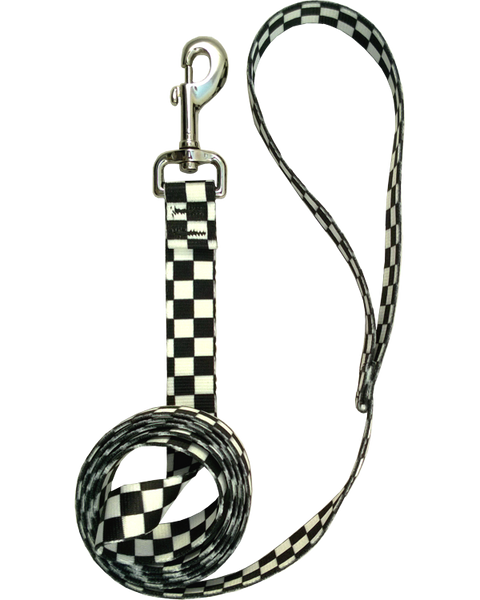 Checkered Dog Leash 6'