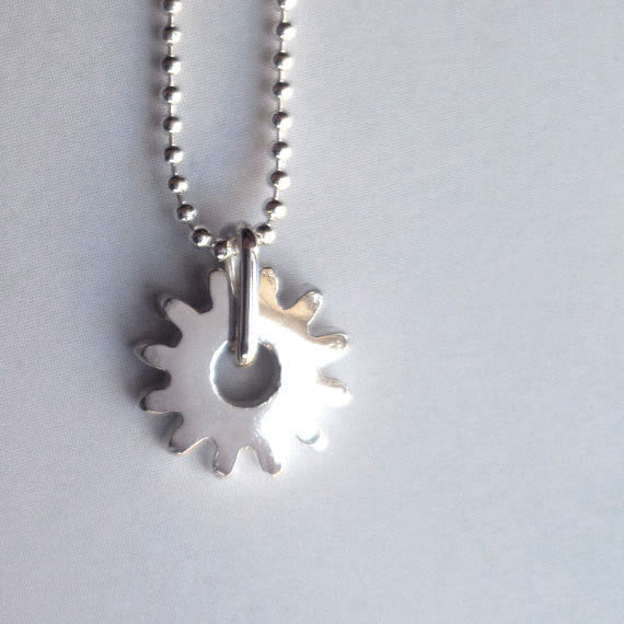 Tiny Gear Necklace