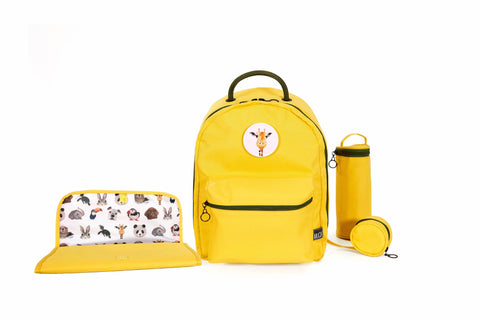 Diaper Backpack Set - Yellow GOGI