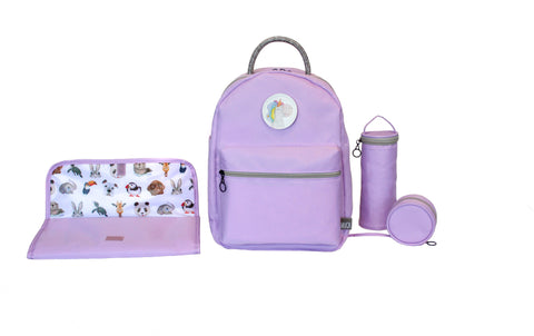 Diaper Backpack Set - Lilac GOGI