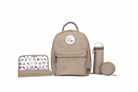 Diaper Backpack Set - Beige GOGI