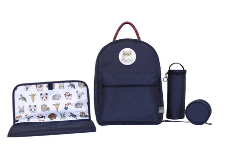 Diaper Backpack Set - Navy GOGI