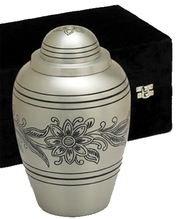 Pewter Bouquet Urn