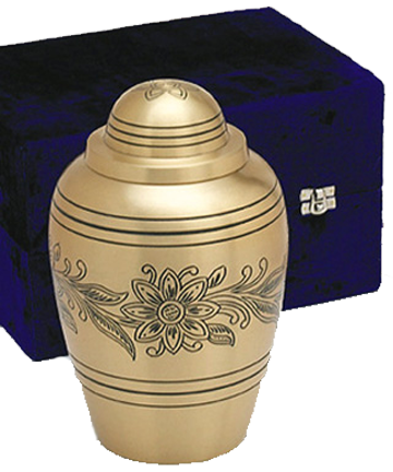 Brass Bouquet Urn