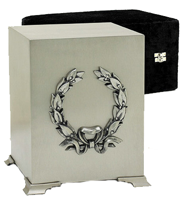 Platinum Finish Cube Urn