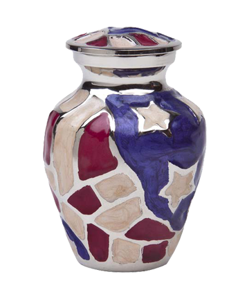 Americana Mini-Keepsake Urn