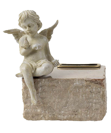 Angel Cream Marble Urn
