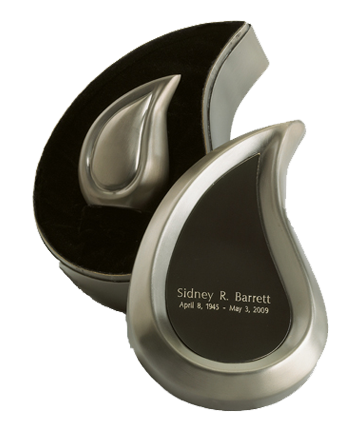 Brushed Pewter Finish Teardrop Ultra Keepsake