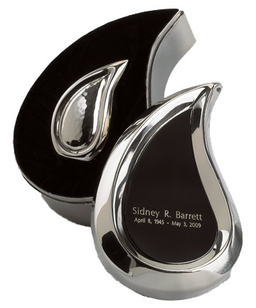 Bright Silver Finish Teardrop Ultra Keepsake