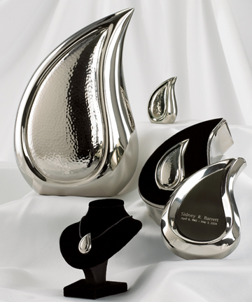 Bright Silver Finish Teardrop Series