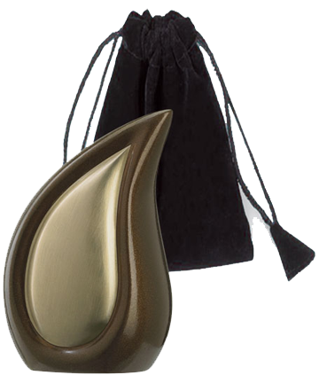 Bronze Tone Finish Teardrop Keepsake