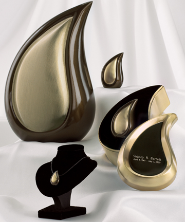 Bronze Tone Finish Teardrop Series
