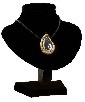 Teardrop SilverGold Necklace