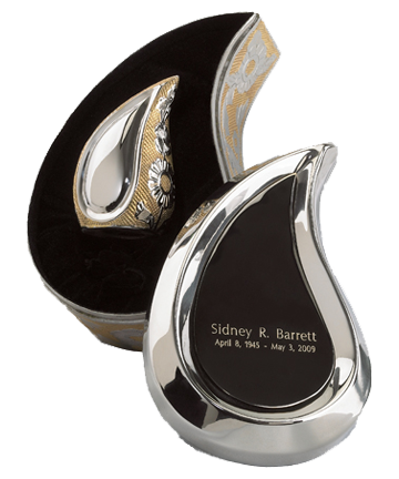 SilverGold Finish Teardrop Ultra Keepsake