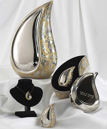 SilverGold Finish Teardrop Series