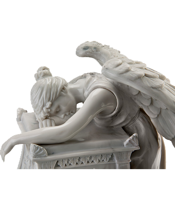 Angel in Mourning with Optional Urn Medallion