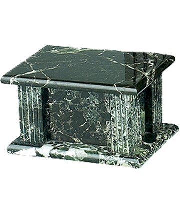 BlackGrain Rectangle Marble Urn