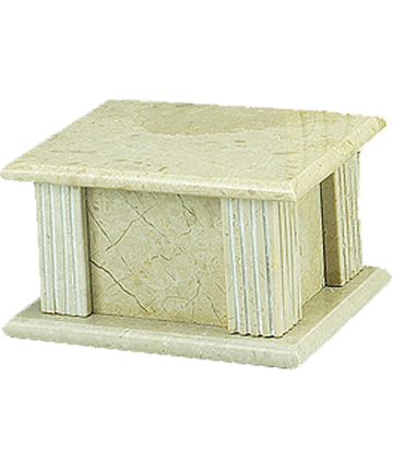 CreamWash Rectangle Marble Urn