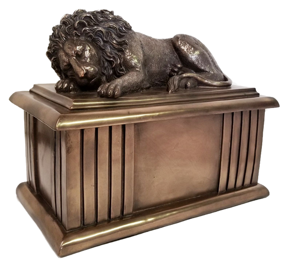 The Lion Sleeps Tonight Adult Cremation Urn