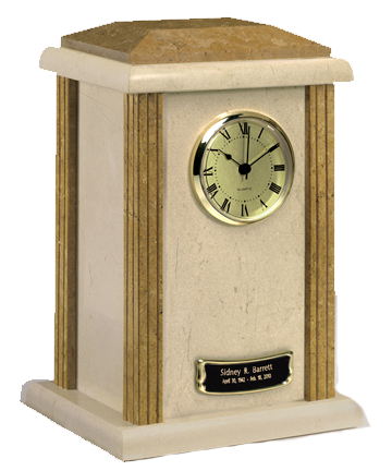 Two Tone Marble Clock Urn